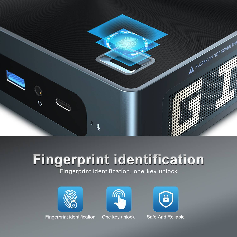Beelink GTi 10 Windows Intel NUC Mini PC - Showing Fingerprint Feature