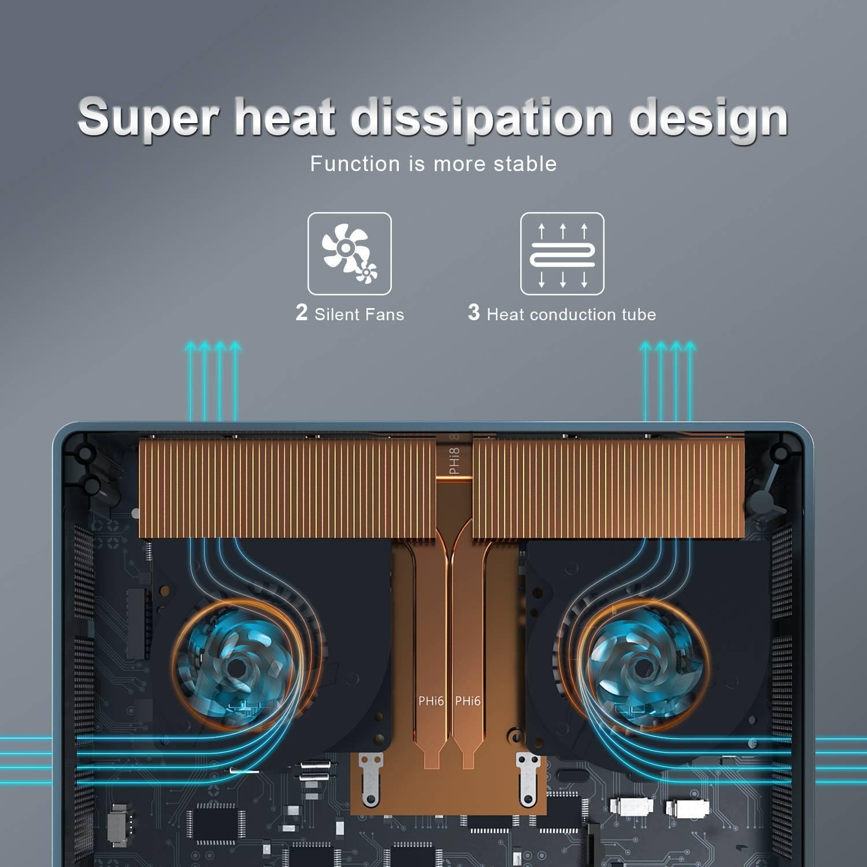 Beelink GTi 10 Windows Intel NUC Mini PC - Showing Cooling