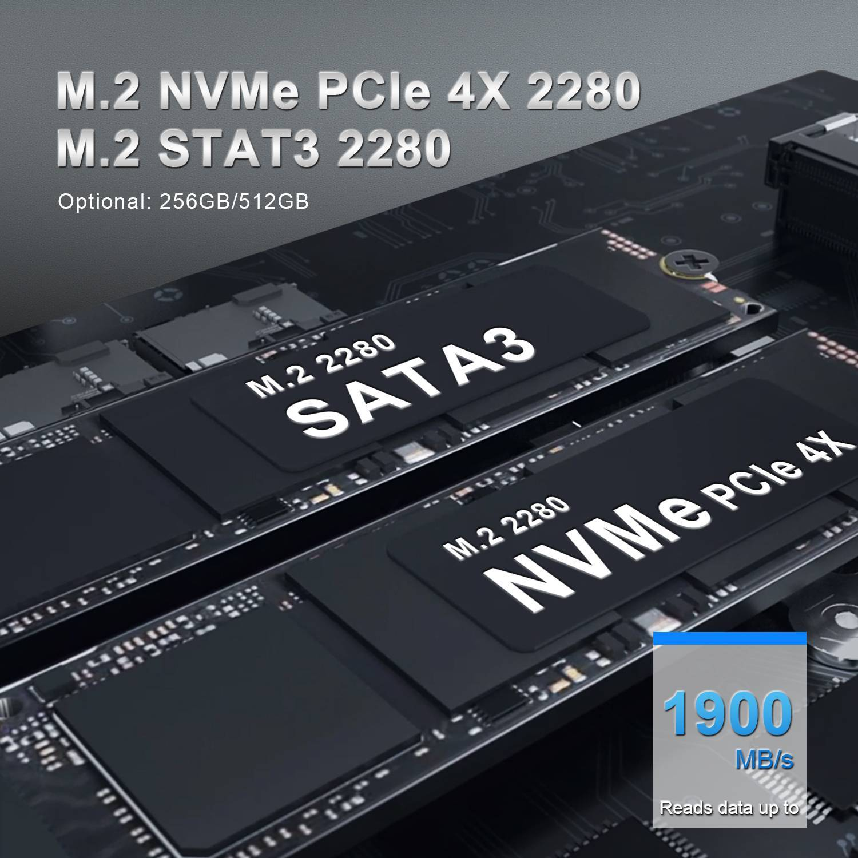 Beelink GTi 10 Windows Intel NUC Mini PC - Showing Storage Options