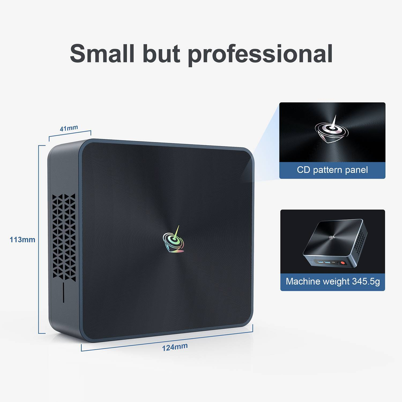 Beelink SEi 10 i3 Mini PC showing small dimensions