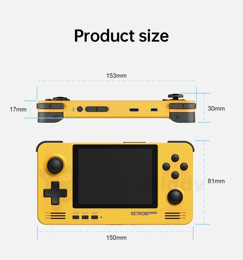 Retroid Pocket 2 - Product Size