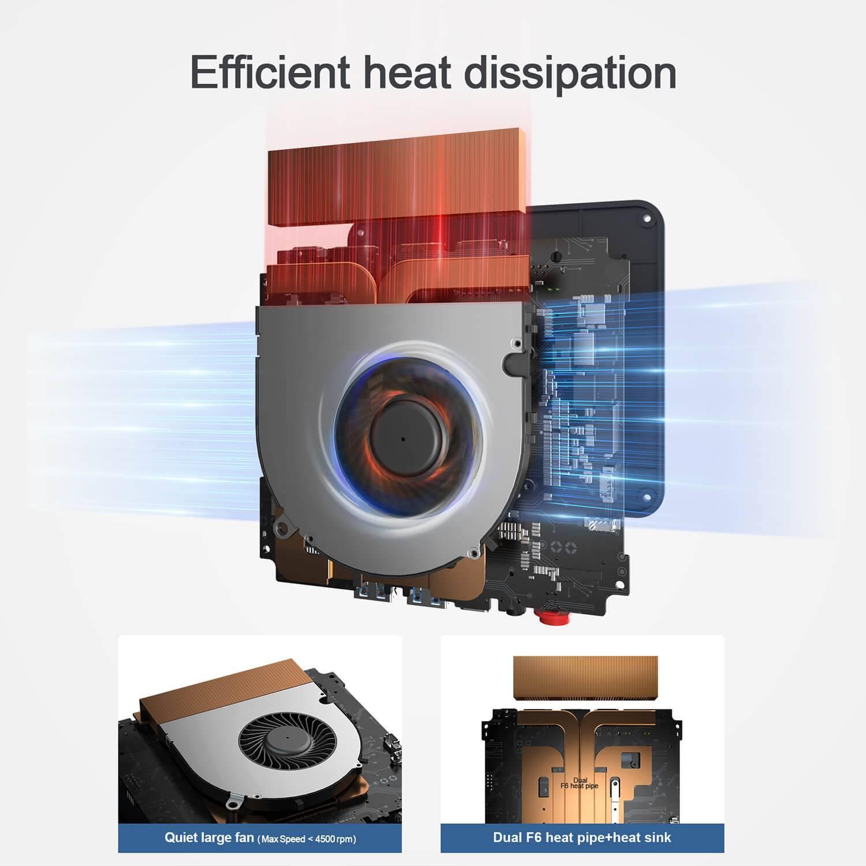 Beelink SEi 8 Windows 10 Mini PC - Showing Heat dissipation method