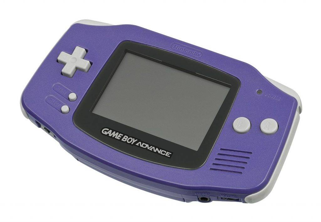 game boy advance handheld gaming console