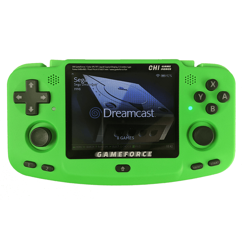 GameForce Chi Green Colour - Shown from the front