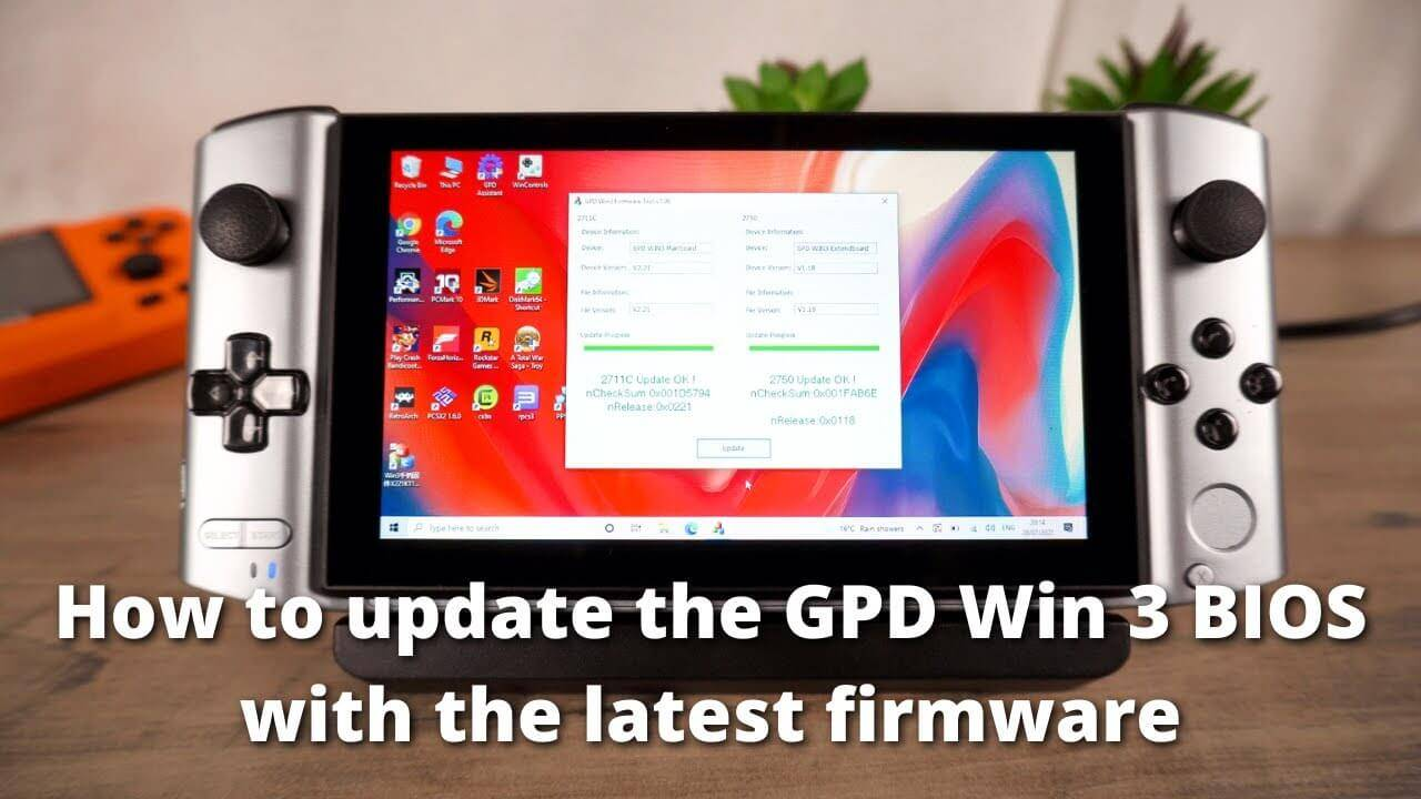 How to update your GPD Win 3 BIOS