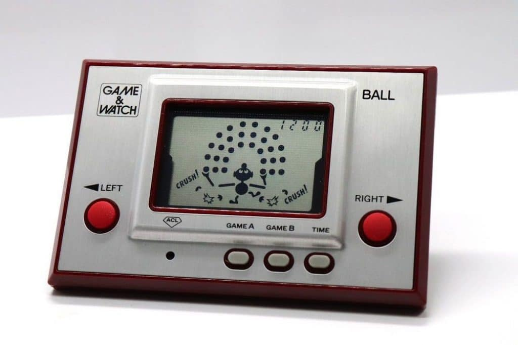 game and watch vintage handheld gaming console