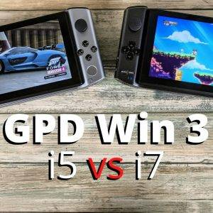 GPD Win 3 i5 vs i7 benchmark comparison