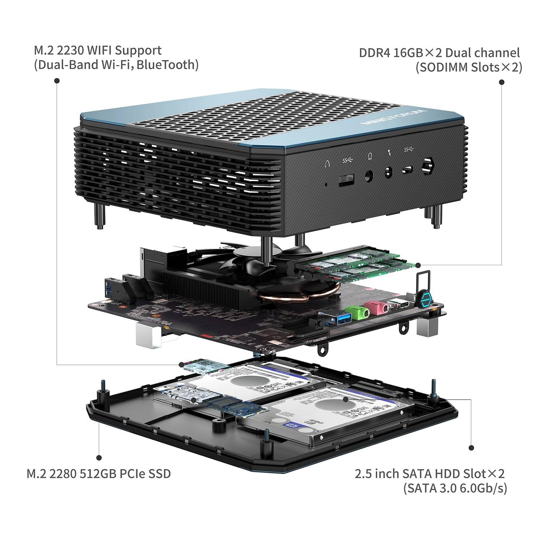 Image showing MinisForum HX90 EliteMini Mini PC showing internal components