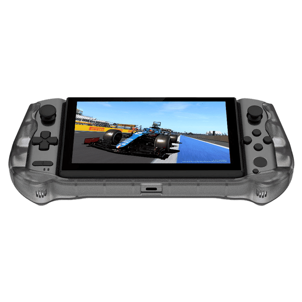 Front facing picture showing the GPD WIN 3 in silicon casing