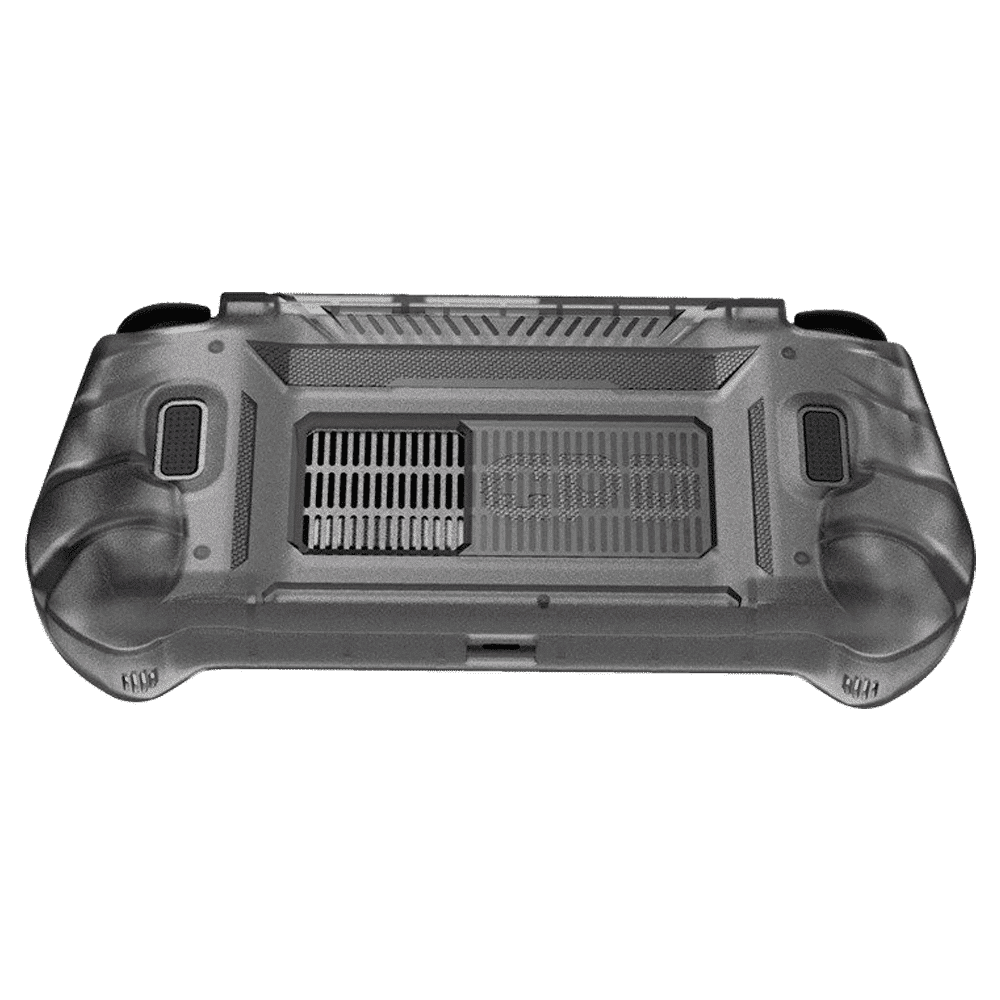 Rear facing picture showing the GPD WIN 3 in silicon casing