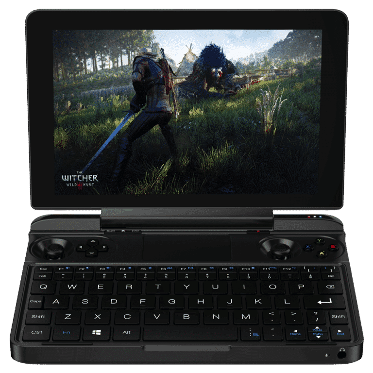 GPD WIN Max 2021 PC Gaming Handheld playing The Witcher 3