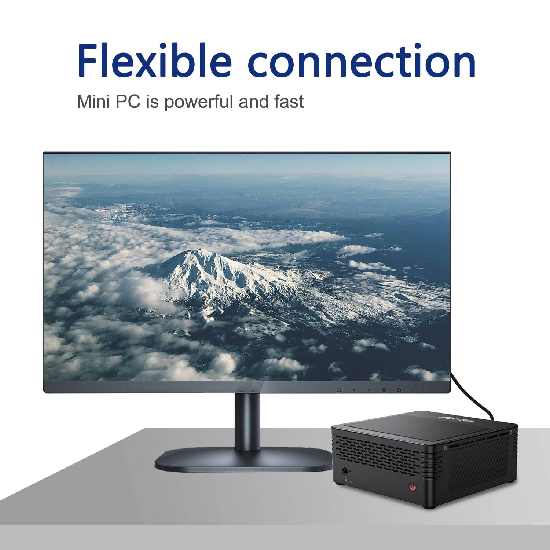 MinisForum EliteMini X500 Ryzen Mini PC - Shown with Display Output