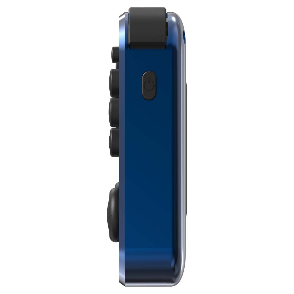 RG351MP Ocean Blue - Shown from the right side with power buttons