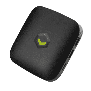 T2 TV Box shown from the front, at an angle