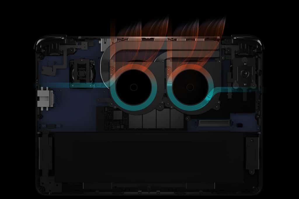 GPD WIN Max 2021 showing exhaust method