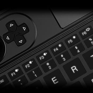 GPD WIN Max 2021 showing Keyboard and Trackpad