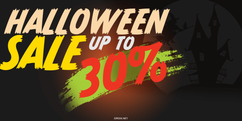 DroiX Halloween Sale – Save up to 30% with discount code