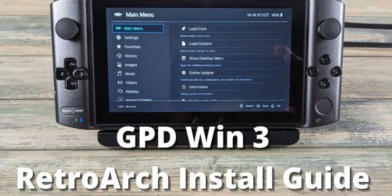How To: Installing RetroArch on The GPD Win 3